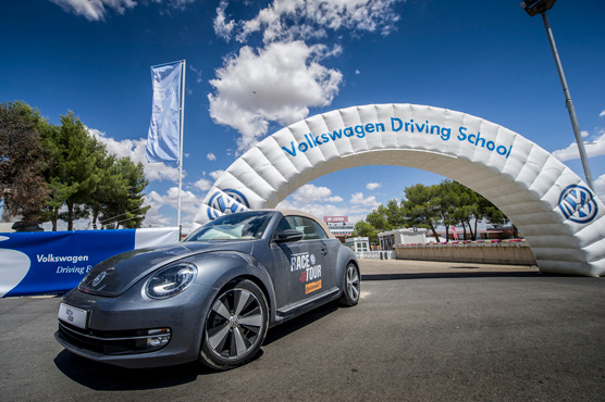 MTS innovative recording system at Volkswagen's Race Tour